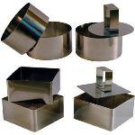 CMP 3 emporte-pièces carrés en inox (8 x 8 cm)