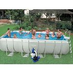 Intex 54498FR - Piscine hors sol tubulaire rectangulaire UltraSilver 457 x 274 x 122 cm