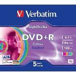 Verbatim 43658 - DVD+R Lightscribe Colour V1.2Lightscribe Colour 5 x DVD+R 4.7 Go