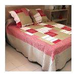 Soleil d'Ocre Couvre-lit boutis matelassé Antibes avec 2 taies d'oreiller (250 x 260 cm)