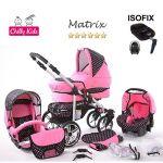 Chilly Kids Matrix 2 - Poussette combinée avec siège auto isofix et parasol