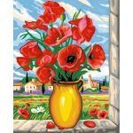 Oz international Peinture au numéro - Maxi : Coquelicots