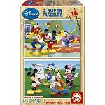 Educa Puzzle 2 x 16 pièces : Mickey Mouse Club House
