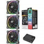 Thermaltake Riing 12 RGB x3 - Ventilateur de boîtier 120 mm LED