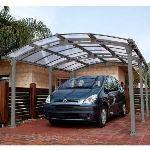 Chalet et Jardin Almicar 5000 - Carport 1 voiture en métal 3,25 x 5 x 2,20 m