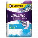 Always DISCREET - 20 serviettes Long pour Fuites Urinaires et Incontinence