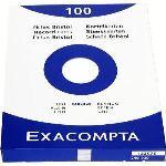 Exacompta 13307E - Etui de 100 fiches bristol 205 g uni non perforées (240 x 320 mm)