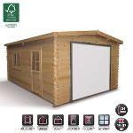 Madeira GA0408 - Garage en bois avec porte et fenêtre latérale 19,97 m2