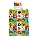 Character World Angry Birds - Housse de couette et taies (140 x 200 cm)
