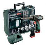 Metabo 600385870 - PowerMaxx SB Basic set perceuse à percussion sans fil