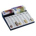 Wedo 160 790037 - Monnayeur euros 8 rangées avec compartiments pour les billets