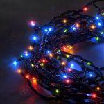 Konstsmide 3632-500 - Guirlande de 180 micro LED multicolores et clignotantes