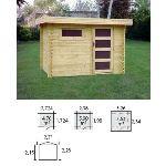 Decor et jardin 64405SZ00 - Abri de jardin en bois massif 28 mm 5,90 m2