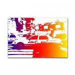 Boniday Tableau plexiglass Taxi Rainbow
