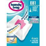 Handy Bag E81 - 4 sacs aspirateur en microfibres et 1 filtre sortie d'air
