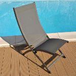 Proloisirs Chaise de jardin pliante Lounge Summer en aluminium et textilène