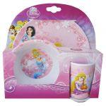 Ensemble repas 3 pièces mélamine Disney Princesses