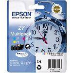 Epson T2705 - Multipack de 3 cartouches d'encre couleurs (cyan, jaune et magenta)