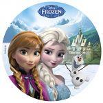 Dekora Disque de décoration en sucre Disney La Reine des Neiges (20 cm)