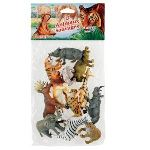 Kim'play 12 figurines d'animaux sauvages