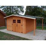 Foresta Vendée VD 3330.02 - Abri de jardin avec bûcher en bois massif 28 mm 8,85 m2