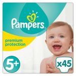 Pampers Premium Protection taille 5+ (Junior+) 13-25 kg - 45 couches