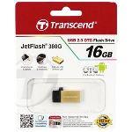 Transcend TS16GJF380 - Clé USB 2.0 JetFlash 380 OTG 16 Go