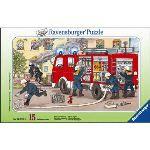 Ravensburger Puzzle Ma voiture de pompier 15 pièces