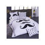 4 offres housse de couette 200x200 moustache tous les prix en ligne. Black Bedroom Furniture Sets. Home Design Ideas