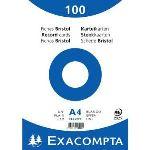 Majuscule 10506E - Paquet de 100 fiches bristol 210 g uni non perforées (A4)