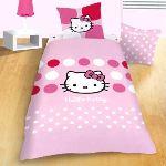 Hello Kitty Sophie - Housse de couette et taie 100% coton (140 x 200 cm)