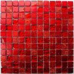 Metallic - Carrelage mosaïque en verre et pierre (30 x 30 cm)