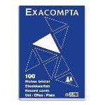 Exacompta 100 fiches bristol quadrillé 5x5  (A4)