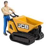 Bruder Toys 62004 - Mini Dumper JCB HTD-5 + personnage
