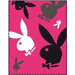 Cti Plaid polaire Playboy en polyester (110 x 140 cm)