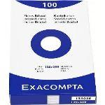 Exacompta 13303E - Etui de 100 fiches bristol 205 g uni non perforées (125 x 200 mm)