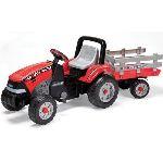 Peg Perego Tracteur à pédales Maxi Diesel Tractor avec remorque