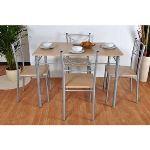 Table rectangulaire Tutti avec 4 chaises