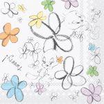 20 serviettes papier Titi Flower