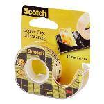 Scotch 136DF/BNL - Rouleau adhésif double-face sur dévidoir (12 mm x 6,3 m)
