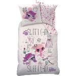 Cti Little Lest Pet Shop - Housse de couette et taie 100% coton (140 x 200 cm)
