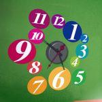 Horloge murale sticker Design Billard