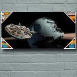 Cadre Star Wars Millenium Versus Death Star (50 x 25 cm)