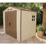 Duramax DUWS86PR - Abri de jardin Woodstyle en PVC 4,13 m2