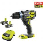 Ryobi One+ R18PDBL-LL15S 18V - Perceuse-visseuse à percussion Brushless + 2 batteries LithiumPlus 1.5Ah