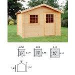 Decor et jardin 62405SZ00 - Abri de jardin en bois massif 28 mm 5,90 m2 (vitrage oscillant ou battant)