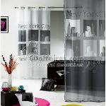 Voile à oeillets imprimé Urban Pop (140 x 240 cm)
