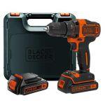 Black & Decker BDCDD186KB - Perceuse visseuse 2 vitesses sans fil 18V 2x Batteries