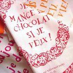 Torchons & Bouchons Torchon je mange du chocolat si je veux !