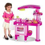 Cuisine complète enfant avec machine à laver, lave vaisselle et four